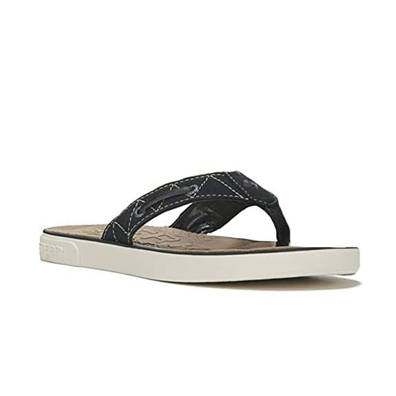 Amazon.com | Sperry womens Oar brook Flip-Flops Sandals Linen Taupe Leather  Size 6 M | Shoes