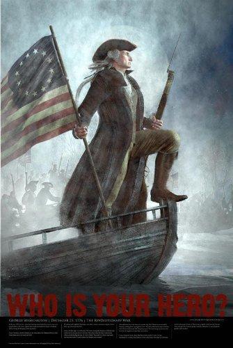 "American Hero Poster 24""x 36"" Matte Finish Print - George Wa"