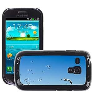 Etui Housse Coque de Protection Cover Rigide pour // M00152983 Sky Blue Bird Flying Shine Borrar // Samsung Galaxy S3 MINI i8190