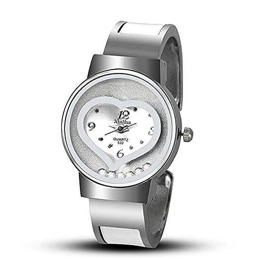 Hermosos Relojes 2017 Nuevo Xinhua Corazon en Forma de Reloj de Pulsera de Reloj Reloj de señoras: Amazon.es: Relojes