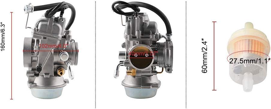 KKmoon Carburatore con Sostituzione del Filtro dellAria per Polaris Sportsman 500 4x4 Ho 2001-2005 2010 2011 2012 Carb