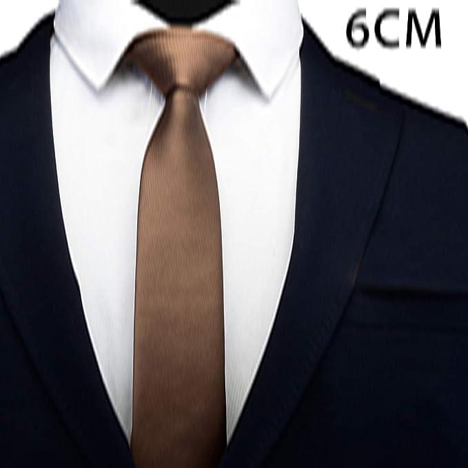 MANTIAN Corbata Delgada de poliéster Pura Corbata para Traje de ...