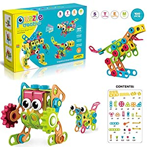Best Epic Trends 51BaX5gmKfL._SS300_ Camyse Boys STEM Learning Toys with 189PCS Building Blocks Set, Educational Toys Gifts for Kids Ages 3-10