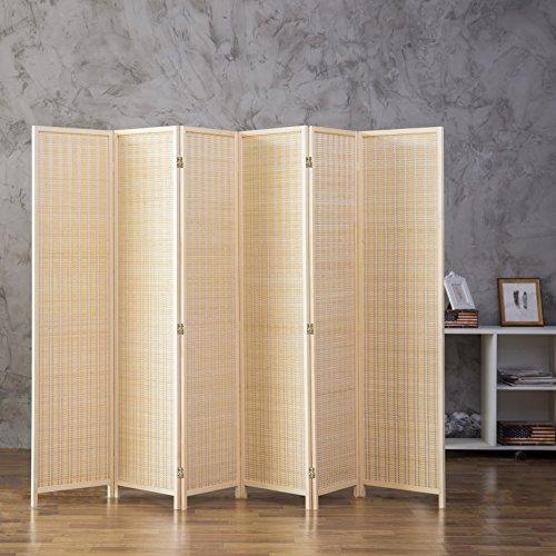 Pleasing Mygift Decorative Woven Bamboo 6 Panel Room Divider Screen Beige Home Interior And Landscaping Fragforummapetitesourisinfo