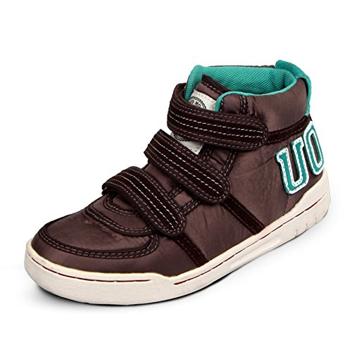 399 Brown Leather (Orlando Johanson New Boys and Girls Sneakers Velcro High Top Warm Boot Casual Shoes (Little Kid/Big Kid) Brown5 M US Big Kid Comfortable)