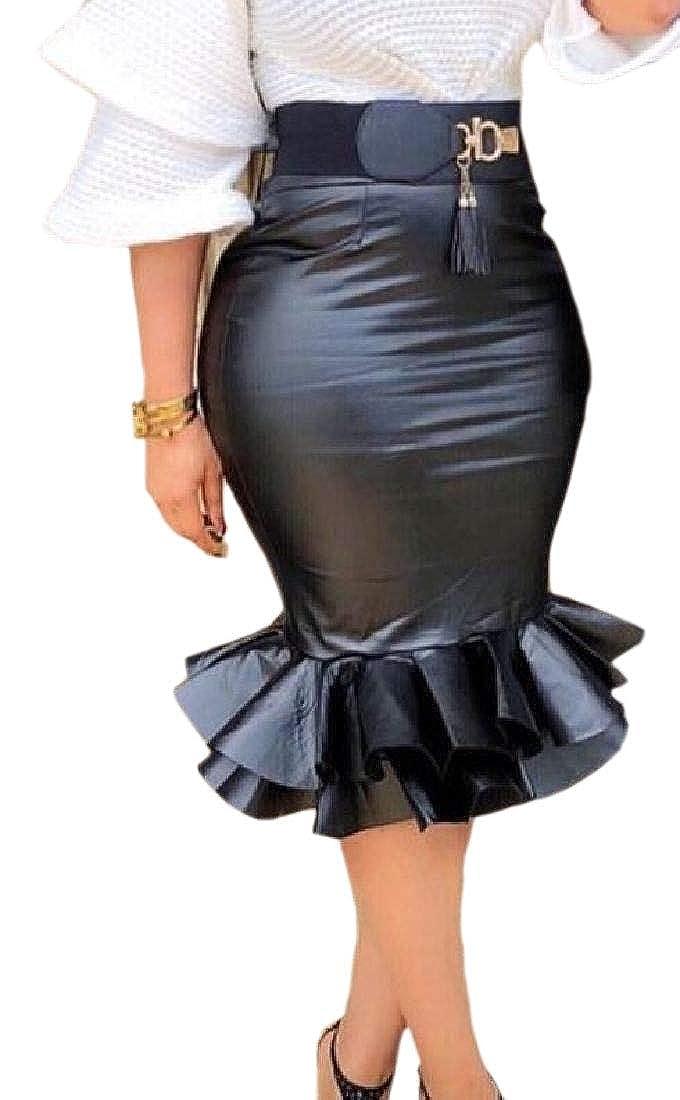 BingSai Falda de lápiz, de Poliuretano, con diseño de Cola de ...
