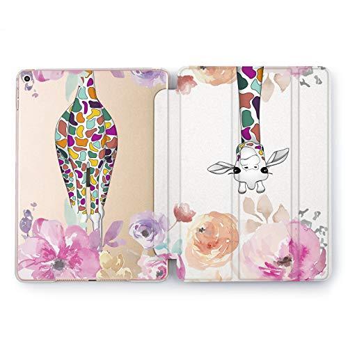 Wonder Wild Funny Giraffe Apple iPad Pro Case 9.7 11 inch Mini 1 2 3 4 Air 2 10.5 12.9 2018 2017 Design 5th 6th Gen Clear Smart Hard Cover Multicolored Animals Floral Peonies Rose Watercolor Cute -