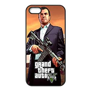 iPhone 4 4s Cell Phone Case Black GTA 5 Michael Holding A Rifle OJ535034