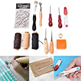 13 Pcs/Set Leather Craft Hand Stitching Sewing Tool Thread Awl Thimble Kit by HONGTIAN