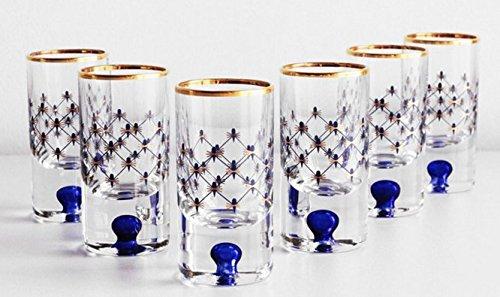 Cobalt Net Vodka Shot Glass Set of ()