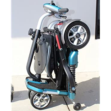 EV Rider Transport Folding Travel Electric Mobility Scooter with SLA Batteries