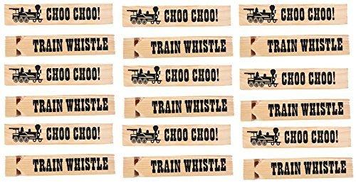 Train Whistle (Kangaroo's Wooden Train Whistles, Train Engineer Whistles, 6
