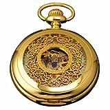AMPM24 Luxury Golden Luminous Mens Mechanical Pocket Watch + Chain Gift WPK020, Watch Central