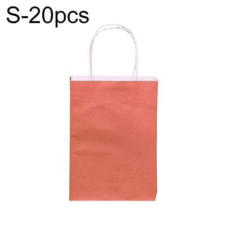 Steellwingsf 20 Bolsas de Papel de Color Caramelo con asa ...