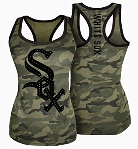 Chicago Whitesox Camouflage Ladies Tank Top (X-Large)