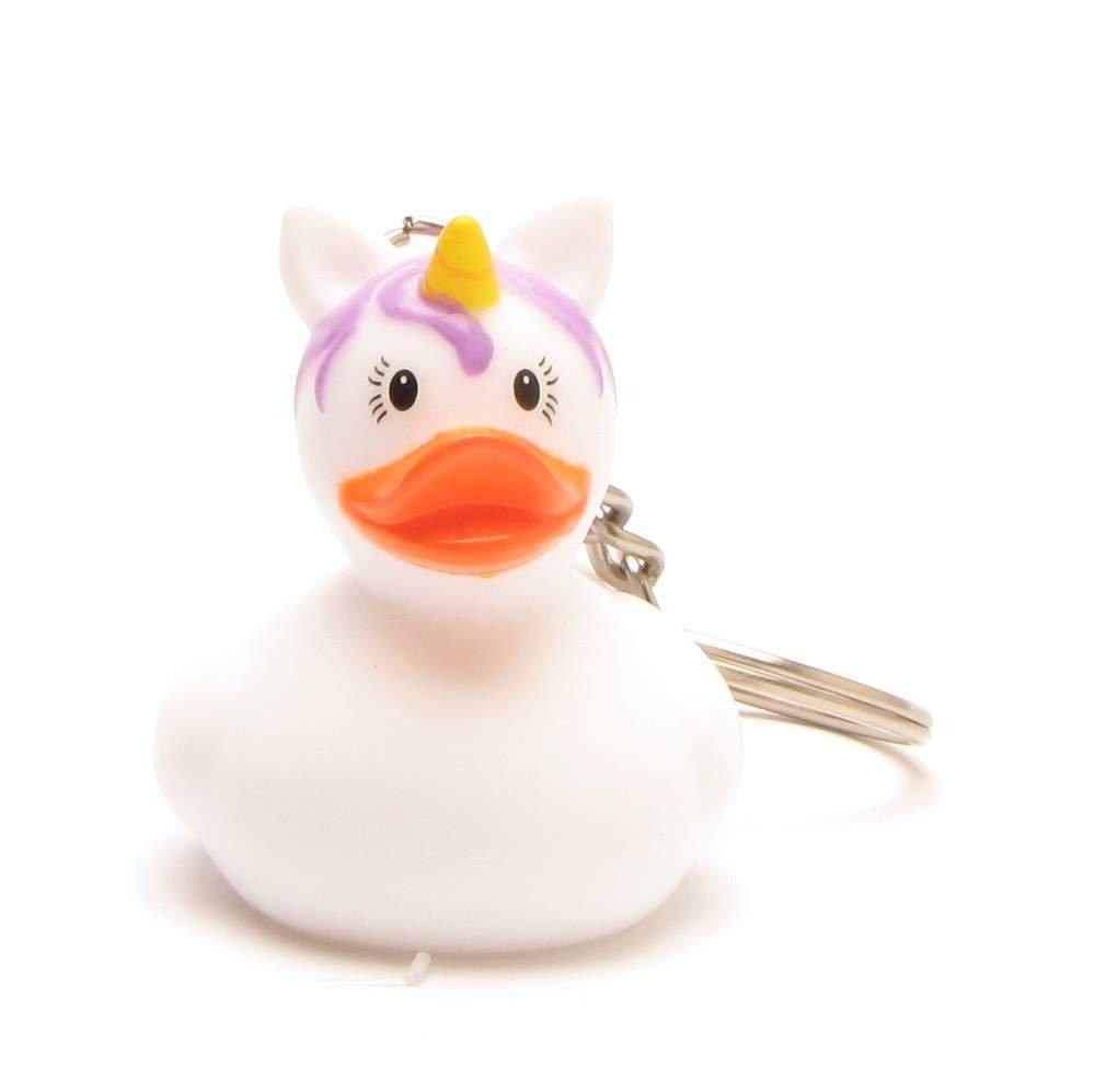 4,5/cm Porte-cl/és Licorne blanc canard de bain I Duck Boutique I Canard de bain I L