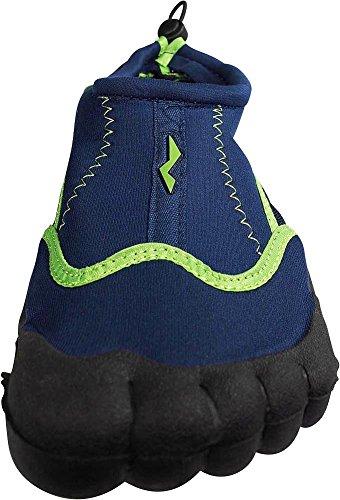 NORTY Herren Aqua Socke Wave Water Schuhe - 10 Farbkombinationen - Waterproof Slip-Ons für Pool, Strand und Sport Marine / Limone