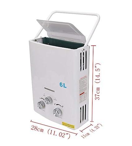 Caldera De Calentador De Agua Instantánea Sin Tanque Caldera + Gas LPG De Cabeza De Ducha