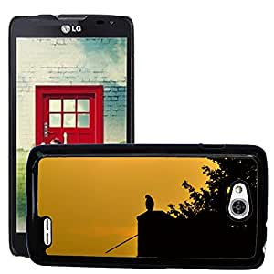 Hot Style Cell Phone PC Hard Case Cover // M00109610 Peaceful Nature Nature Reserve Sunset // LG Optimus L90 D415