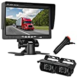 Cheap LeeKooLuu Dual Backup Cameras 7 Inch Monitor System for RV/Truck/Trailer/Campers/Bus Night Vision IP68 Waterpoof Rear/Facing View Reverse/Continuous Use
