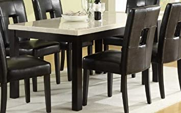 Amazoncom Dining Table in Faux Marble Top of Archstone