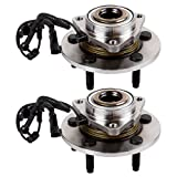 Scitoo Both(2) 515113 New Complete Front Wheel Hub Bearing Assembly fit 2006 2007 2008 Dodge Ram 1500 5 Lugs w/ABS