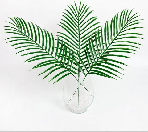 ial Ombre Kwai Leafs Branch Fake Palm Plants Grass Flower For Home Wall Garden Wedding DIY Decoration ()