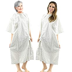 Hospital Gown Cotton Blend Useful Fashio...