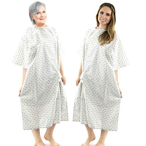 Back Patient Gown - Hospital Gown Cotton Blend Useful Fashionable Patient Gowns Back Tie 46