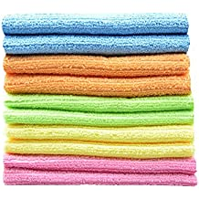 Sinland wholesale Household tools Multi-purpose Cleaning Cloths Microfiber Kitchen Cloth With Stripe 12Inchx12Inch 10 Pack