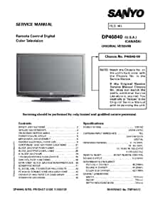 sanyo dp46840 service manual with schematics sanyo amazon com books rh amazon com Sanyo Online Manuals Sanyo Repair Manual
