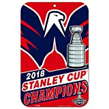 WinCraft Washington Capitals Official NHL 11'' x 17'' 2018 National Champions Plastic Wall Sign 11x17 by 229120