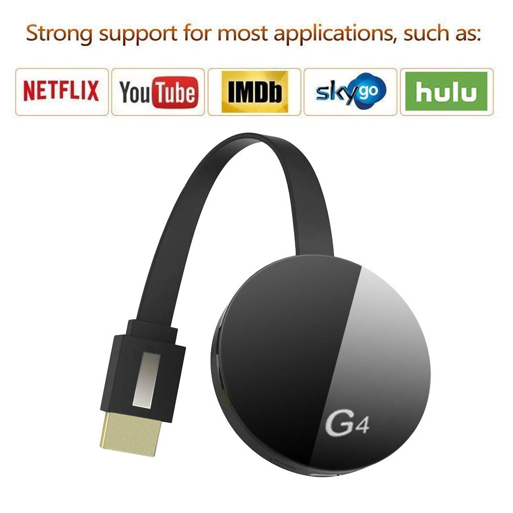 [New 2019] Wireless Display TV HDMI Dongle - WiFi Portable Display Receiver 1080P HDMI Miracast Dongle Compatible with iOS iPhone iPad/Mac/Android Smartphones/Windows/TV/Laptop by Ksera