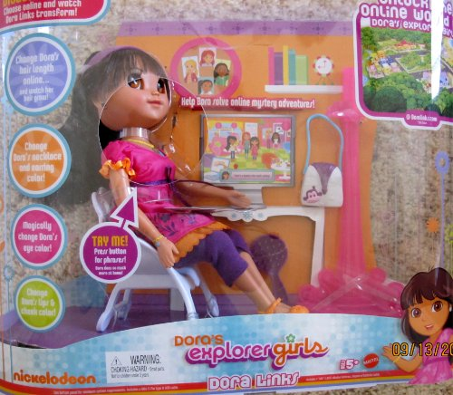 Dora's Explorer Girls DORA LINKS Interactive DOLL Transforms w LIGHTS & SOUNDS (2009) (Dora Links)