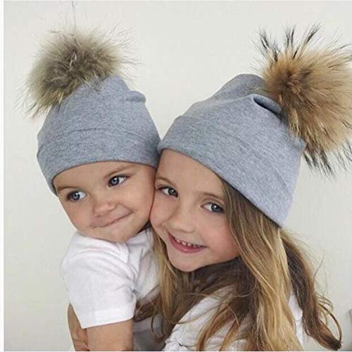 Infant Newborn Baby Hats Cute Soft Warm Cotton Beanie Hat Toddler Baby Kids  Ski Cap Pom d5fccf916719