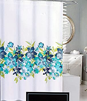 Superieur Amazon.com: Cynthia Rowley Fabric Shower Curtain Turquoise Blue Green  Floral Pattern    Maui: Home U0026 Kitchen
