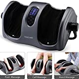 TISSCARE Shiatsu Calf Foot Massager Machine with Heat Leg Massager, Deep-Kneading for Tired Calf Leg Arm Plantar Fasciitis Neuropathy, Tired Muscles w/Adjustable bar