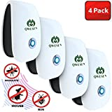 Ultrasonic Pest Repeller | Best Pest Control Ultrasonic Repellent - Set of 4 Electronic Pest Control - Plug in Home Indoor Repeller - Get Rid of Mosquitos, Insects, Rats, Gnats, Bugs, Spiders, Rodents