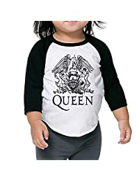 Strividialous Boys&Girls Queen Band Logo Leisure Raglan Shirt 3/4 Sleeve