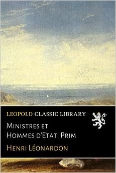 Book Ministres et Hommes d'Etat. Prim