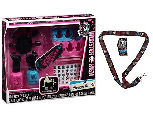 High Monster Nail (Monster High Clawsome Nail Set, 50 pc! Plus Bonus Monster High Lanyard!)