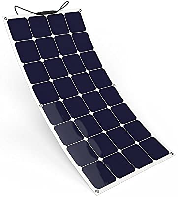 OldSoldier 100W 18V 12V Portable Bendable SunPower Cell Solar Panel Ultra Thin Flexible with MC4 Connector Charging for RV, Camping, Home, Tent, Boat, Cabin, Car, Trailer etc