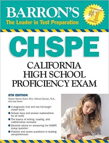 Amazon.com: Barron's CHSPE: California High School Proficiency ...