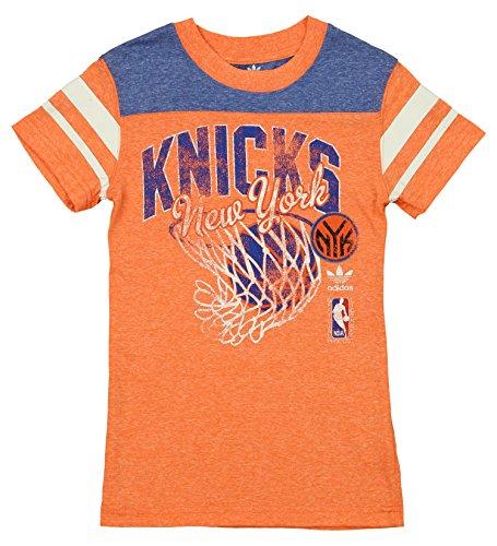 Youth T-shirt Shot (NBA New York Knicks Youth 8-20 Short Sleeve Tri-Blend T-Shirt Sweet Shot, Blue, X-Large)