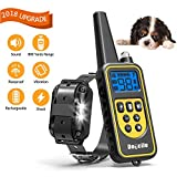Cheap FUNSHION Shock Collar for Dogs IPX7 Waterproof and Rechargeable Dog Training Collar 800 Yards Beep/Shock/Vibration/LED Light for Small/Medium/Large Dog Shock Collar with Remote