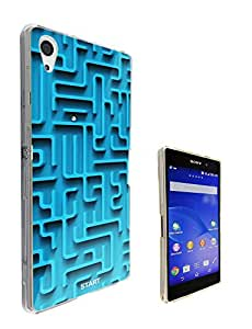 197 - Please Note this only a print Cool Fun maze Print Look Design Sony Xperia Z2 Fashion Trend CASE Gel Rubber Silicone All Edges Protection Case Cover