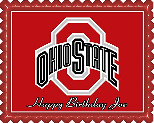 Ohio State Buckeyes - Edible Cake Topper - 10