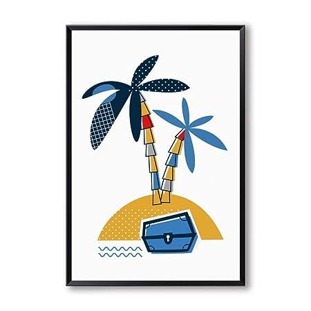 YCOLLC Lienzo de Pintura Minimalista Fiesta Pirata Lienzo ...
