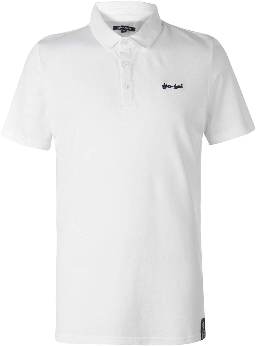 GioGoi Embroidered Polo Shirt Mens White Activewear Athleisure Top Tee X-Small