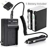 Kastar Battery (1-Pack) and Charger for Sony NP-F970 NP-F960 F970 F960 F975 F950 and DCR-VX2100 HDR-AX2000 FX1 FX7 FX1000 HVR-HD1000U V1U Z1P Z1U Z5U Z7U HXR-MC2000U FS100U FS700U and LED Video Light
